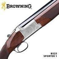 Browning B525 New Sporter -haulikko säädettävällä poskipakalla