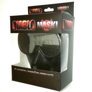 Diablo Airsoft Verkkomaski Musta