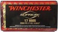 Winchester Supreme 17 HMR V-MAX pienoiskiväärinpatruuna